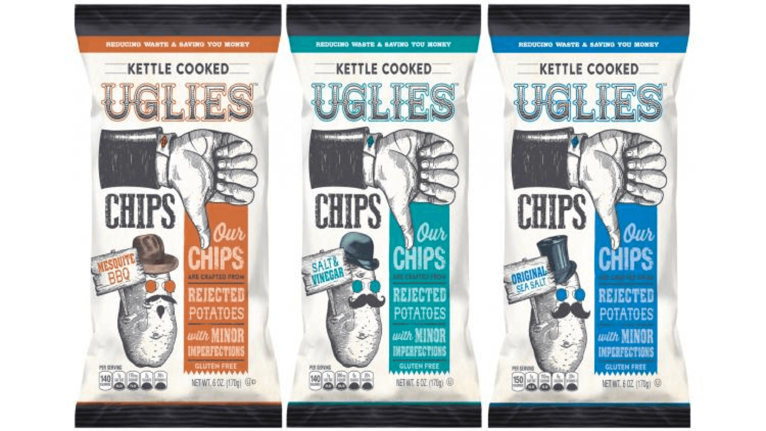 Pennsylvania snack purveyor Dieffenbach's Potato Chips created Uglies, kettle-cooked potato chips made from rejected potatoes.
