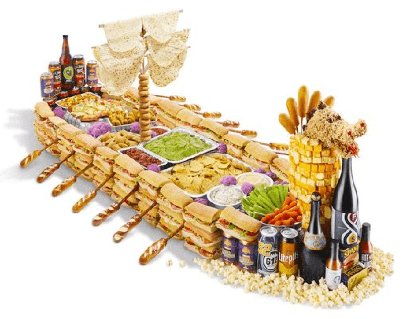 Why settle for a snack stadium when you can build your own Viking-inspired snack ship?