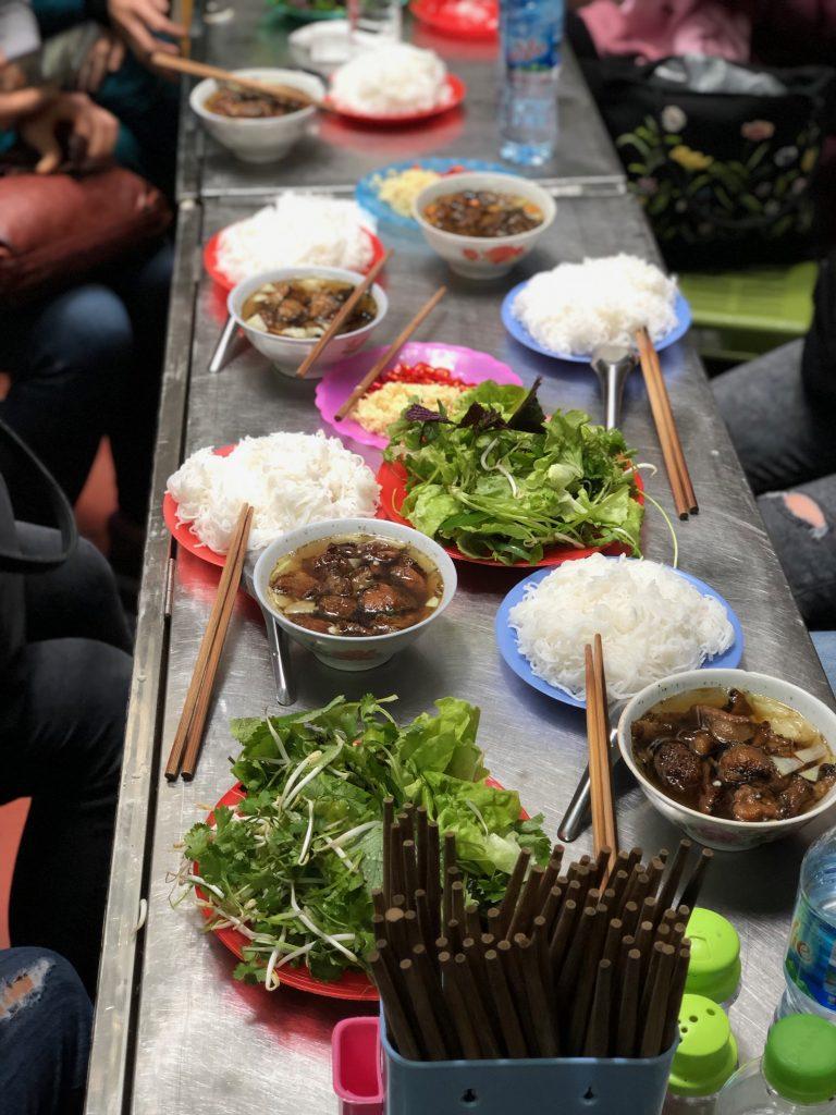 Bun Cha, an Hanoian lunch noodle dish