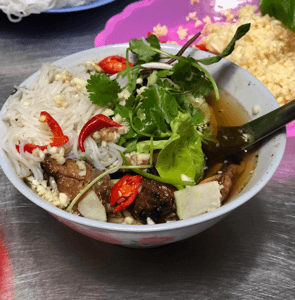 "Bun Cha, an Hanoian lunch noodle dish as featured on ""Parts Unknown"""