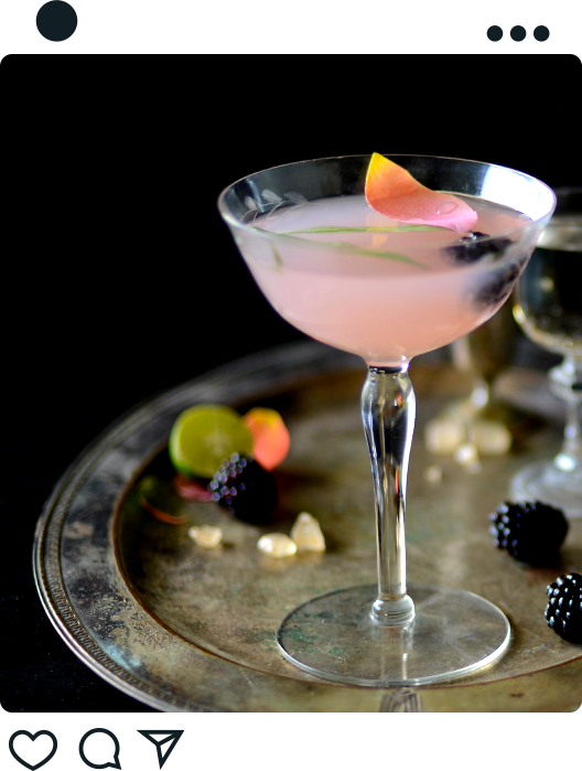 Example of JT Mega beverage photography for use on social media