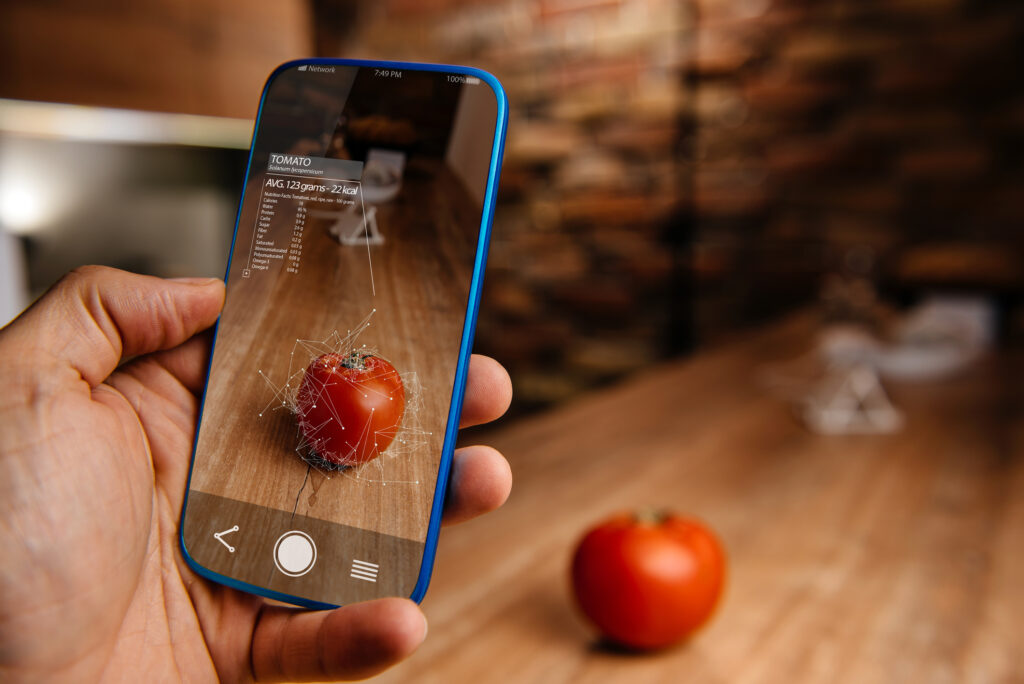 Using augmented reality on a mobile device