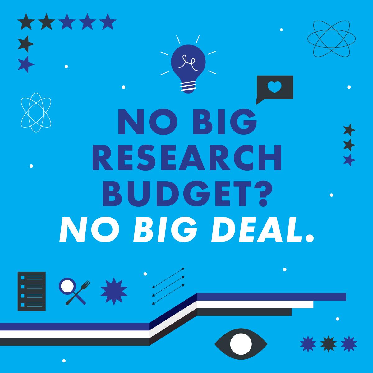 No big research budget? No big deal.